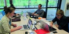 Dans les locaux de l'incubateur d'entrepreneurs sociaux Ronalpia à Lyon.