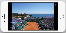 L'application a été officiellement lancée lors du tournoi de tennis Monte-Carlo Rolex Master Series