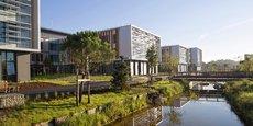Présent à Bordeaux, le Groupe GA a réalisé en 18 mois un ensemble immobilier de 60.000 m2 pour le Campus Thales  à Mérignac.