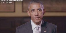 J'admire la campagne qu'Emmanuel Macron a menée, a déclaré l'ancien président américain dans une courte vidéo de soutien.