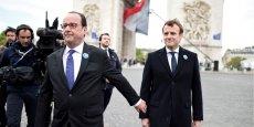 Le chef de l'Etat a déclaré ressentir beaucoup d'émotion à donner, lors de ces cérémonies, la marche à suivre à Emmanuel Macron, qui, dans son parcours politique, l'a suivi puis s'est émancipé sans trahir, et a été élu.