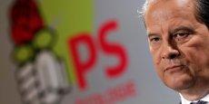 Le Parti socialiste n'est pas mort, affirme son premier secrétaire, Jean-Christophe Cambadélis, à la veille des législatives. (Ici, le représentant socialiste à la conférence de presse du nouvel an, au fief du parti, rue de Solférino).