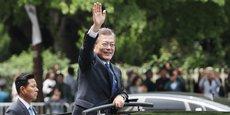 Moon Jae-in, nouveau président de la Corée du Sud, après son investiture à Séoul le 10 mai 2017.