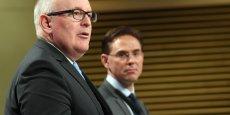 Frans Timmermans et Jyrki Katainen, vice-présidents de la Commission européenne
