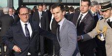 Gaspard Gantzer, ici en octobre 2014 aux côtés de François Hollande.