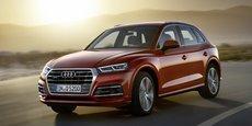 L'Audi Q5 creuse l'écart avec le Tiguan qui est pourtant bien monté en gamme.