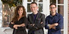 Jessica Collier, Phil Libin et Jon Cifuentes, les trois cofondateurs du startup studio All Turtles.