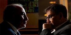 Georges Képénékian (à gauche) et David Kimelfeld (à droite).