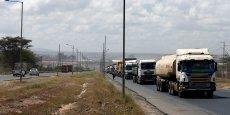 Tronçon routier reliant le port de Mombasa à la capitale kényane Nairobi.