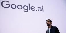 Sundar Pichai, PDG de Google, lors de la conférence annuelle pour les développeurs, le 17 mai 2017 à San José (Californie).
