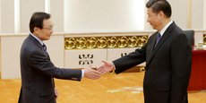 Lee Hae-chan, émissaire sud-coréen dépêché à Pékin, a rencontré le président chinois Xi Jinping, le 19 mai.