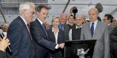 De gauche à droite : Jean-Charles Boulanger, Jean-François Paillissé, Virginie Calmels, Alain Rousset, Mariano Efron et Alain Juppé