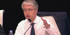 Jean-Laurent Bonnafé, le directeur général de BNP Paribas, ce mardi à l'assemblée générale des actionnaires.