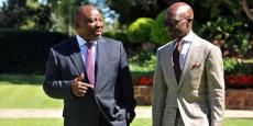 Cyril Ramaphosa et Malusi Gigaba, respectivement vice-président et ministre des Finances de l'Afrique du Sud.