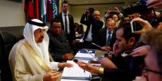 Le président de l'Opep, le Saoudien Khalid al-Falih, à l'ouverture de la réunion des 24 pays producteurs à Vienne, le 25 mai.