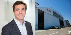 Jérôme Arnaud, nouveau président de la Sefta / Hangar d'ATR à Francazal.