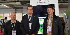 De gauche à droite : Hervé Devanne, Alain Caillaud et Fabrice Gabard, les 3 associés initiaux, tous agriculteurs.