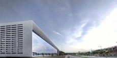 Ce bâtiment de 10.000 m² de surface de plancher évoquera des jeans empilés sur une étagère