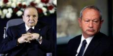 Le président algérien Abdelaziz Bouteflika et Naguib Sawiris, président de d'Orascom TMT Investsments.