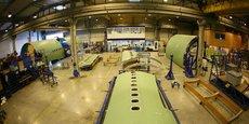 Usine de Latécoère, sous-traitant de rang 1 d'Airbus.