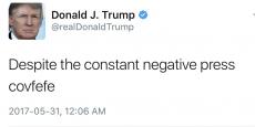 Le président américain Donald Trump avait tweeté l'énigmatique expression covfefe le 31 mai, déclenchant nombre de détournements sur les réseaux sociaux.