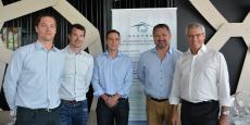 De gauche à droite : Thomas Jaquier (HydroQuest), Marc Lafosse (Energie de la Lune), Matthieu Blandin (Valorem), Thierry Lausseur (Cerenis) et Jean-François Simon (HydroQuest).