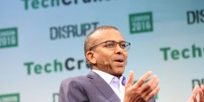 Ismail Ahmed, fondateur et CEO de WorldRemit, lors de sa participation en tant que speaker au TechCrunch Disrupt SF, en septembre 2016 à San Francisco aux Etats-Unis.