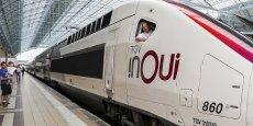 Un TGV InOui en garde de Bordeaux Saint-Jean