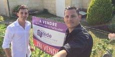 Sylvain Gardelle (à gauche) et Frédéric Dupont (à droite) co-gérants de Mon aide immobilière.