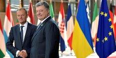 Le président du Conseil européen, Donald Tusk, rencontre le président ukrainien Petro Poroshenko à Bruxelles, en Belgique, le 22 juin 2017. REUTERS / Eric Vidal