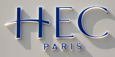 Le logo de HEC School of Management, située à Jouy-en-Josas, près de Paris, en France.