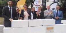F. Lorente (UPVD), A. Brunet (CUB de Perpignan), A. Langevine (Région), H. Malherbe (CD 66)  A. Le Pellec Muller (recteur), P. Mailhos (préfet de la région) et P. Vignes (préfet des P-O).