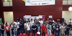 Les lauréats de l'Hackathon de l'innovation sociale à Montpellier, le 30 juin 2017