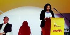 Isabel Dos Santos, présidente de la Sonangol, présentant les résultats de compagnie, lundi 3 juillet, à Luanda.