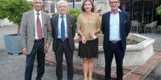 Le nouveau bureau composé d'André Benhamou, Francis Grass, Emmanuelle Markiewicz et André Guiraud
