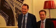 Sébastien Hénin, directeur général, et Arnaud Raimon, président d'Aliénor Capital.