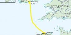 Le projet du Celtic Interconnector prévoit de poser 600 km de câble sous-marin entre la côte méridionale de la République d'Irlande et le nord-est de la France.
