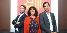 De gauche à droite : Jean-Christophe Tortora (président de La Tribune), Marie-Claire Uchan (maire de Saint-Bertrand-de-Comminges) et Nicolas Hazard (fondateur du Comptoir de l'Innovation INCO) (Crédits : Rémi Benoit)