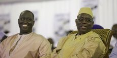 Aliou Sall, maire de Guediawaye (banlieue de la capitale Dakar), et Macky Sall, président du Sénégal.