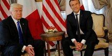 Donald Trump et Emmanuel Macron lors du sommet de l'Otan organisé à Bruxelles en mai dernier.