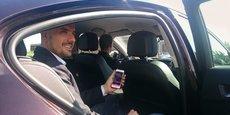 Pierre Rosi, le fondateur de My Sam, se fait conduire par un de ses chauffeurs.