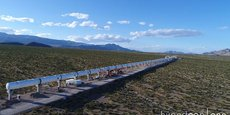 Le tube de 500 mètres de l'Hyperloop One, situé en Arizona.