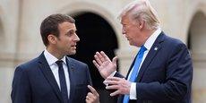 Emmanuel Macron et Donald Trump aux Musée des Invalides à Paris ce jeudi 13 juillet 2017.
