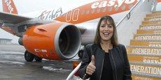 Mme McCall quitte la compagnie aérienne au moment où EasyJet se prépare à affronter les turbulences du Brexit. En sortant de l'UE en mars 2019, le Royaume-Uni pourrait en effet sortir aussi du ciel unique européen. (photo prise le 1er février 2016, lors de l'inauguration de la desserte de l'aéroport de Venise-Marco-Polo, en Italie).