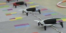 Dronisos fait voler des drones de manière totalement automatisée lors de spectacles mêlant danse, effets spéciaux... (ici, à l'occasion des 15 ans de Betomorrow)