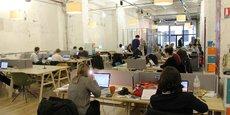 Un espace de coworking situé dans le quartier de Bastille, à Paris.