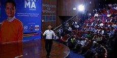 Jack Ma, CEO d'Alibaba, lors de sa conférence présentée le 20 juillet devant les étudiants de l'Université de Nairobi au Kenya.