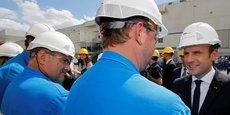 Emmanuel Macron en visite sur les chantiers de Saint-Nazaire en mai dernier.