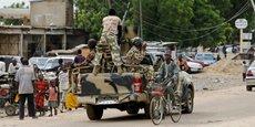 Une unité de l'armée nigériane patrouillant dans les rues de Maiduguri, dans l'Etat de Borno, le 31 août 2016.