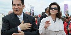 L'ancien président tunisien Zine el-Abidine Ben Ali et son épouse Leïla Trabelsi.